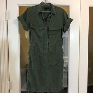 J CREW Olive Utility Military Style Dress Sz 2
